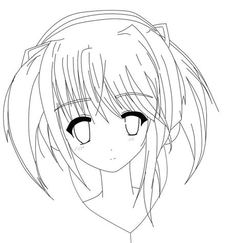 anime girl coloring pages cute anime girl coloring pages