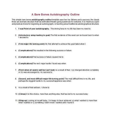 autobiography template 40 autobiography exles autobiographical essay