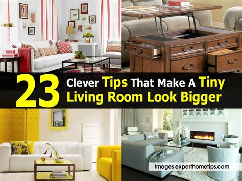 how to make living room look bigger 23 clever tips that make a tiny living room look bigger