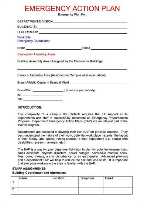 emergency response plan template for small business business emergency plan template emergency care plan
