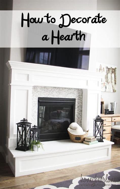 How to Decorate a Hearth   Honeybear Lane