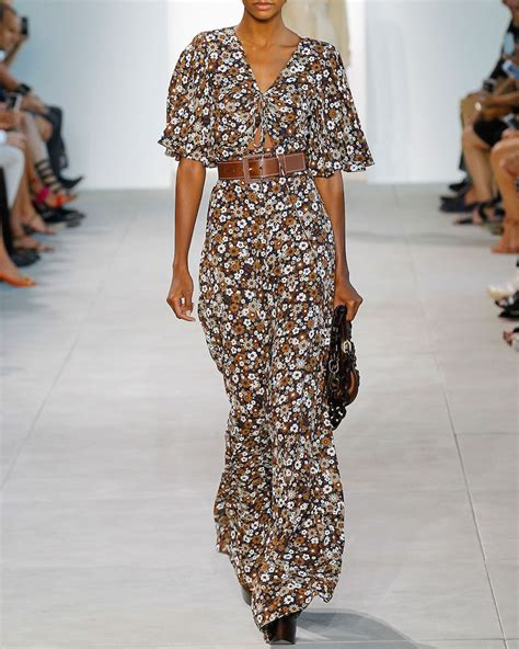 Jumpsuit Palazzo Floral the runway michael kors summer 2017