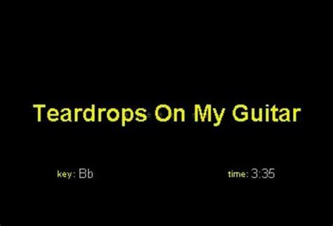 taylor swift change karaoke taylor swift teardrops on my guitar key bb karaoke cd