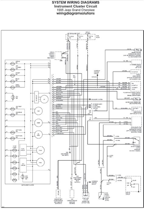jeep grand cherokees instrument cluster circuit wiring diagram schematic wiring diagrams