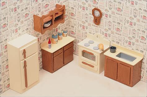 doll house furnishings unfinished dollhouse furniture kitchen