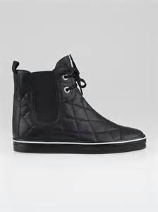chanel high top sneakers chanel black quilted leather high top sneakers size 6 36 5