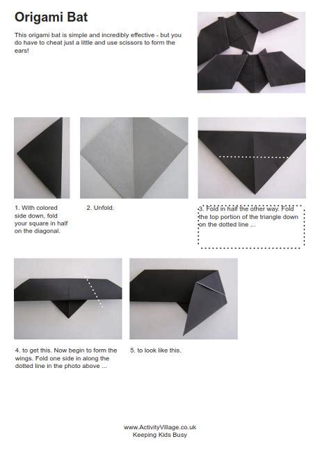 How To Make A Origami Bat - origami bat and photos