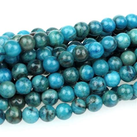 lace blue and green agate gemstone 5mm