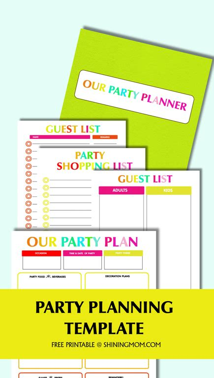 Free Printable Party Planning Template Event Planning Packages Template