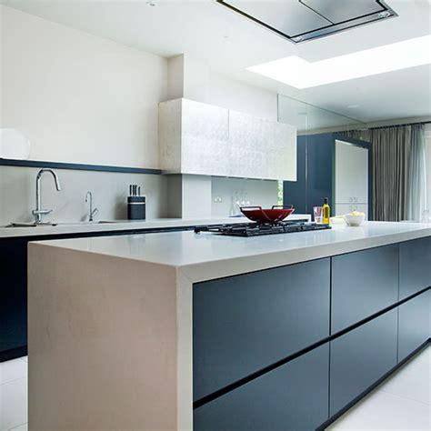 modern blue kitchen modern blue black kitchen kitchen tour ideal home