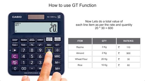 how to use gt grand total function on casio calculators