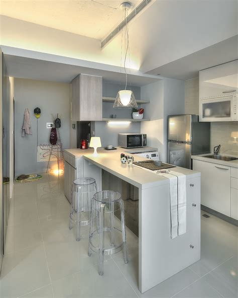 kitchens designs small kitchen studio small taipei studio apartment with clever efficient design