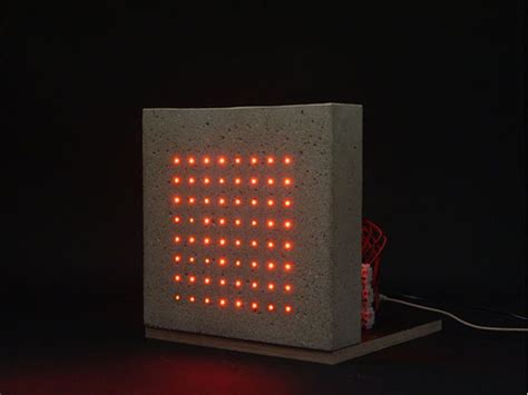 led lights in concrete concrete led facade