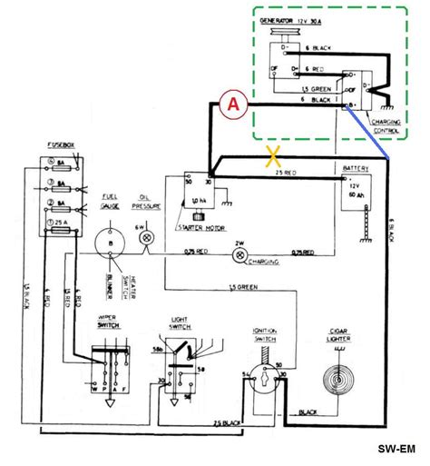 ammeter shunt wiring diagram for alternator wiring