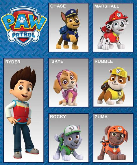 paw patrol puppy names the gallery for gt paw patrol cupcake toppers