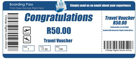 travel vouchers domestic flights south africa