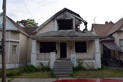 Destroyed property in Detroit   fireplace chats