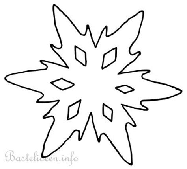 Kostenlose Vorlage Schneeflocke Bastelvorlage Weihnachten Winter Schneeflocke 5