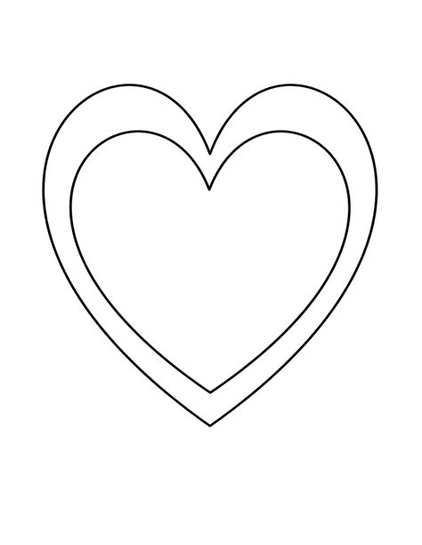 valentine s day heart template free download