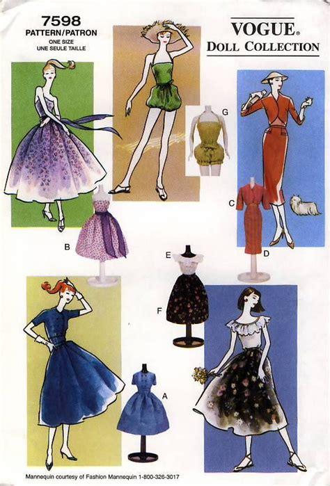 barbie sewing patterns on pinterest barbie patterns pdf barbie sewing pattern vintage inspired 1950s wardrobe