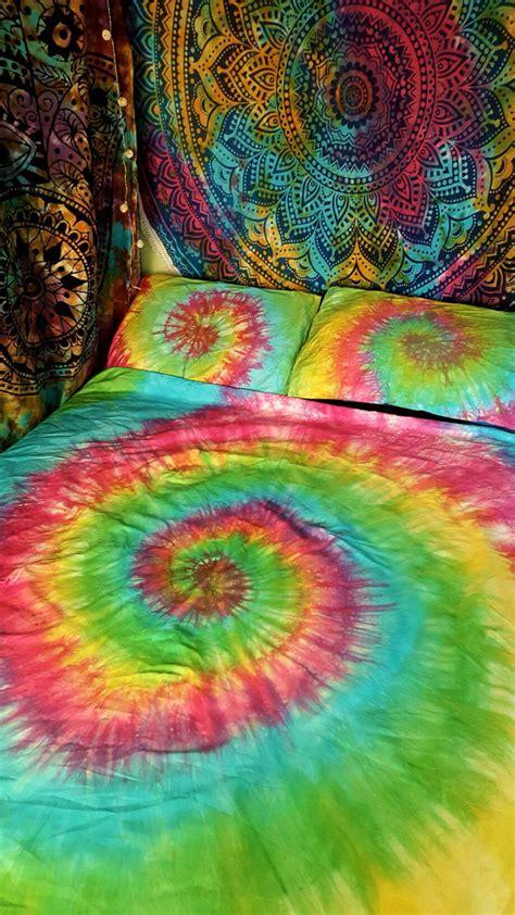 rainbow tie dye comforter tie dye duvet set hippie bedding rainbow bedding