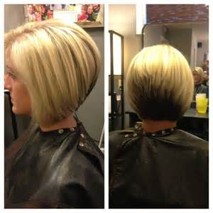 a cut hairstyles stacked in the back photos stacked haircut highlights and color block hair