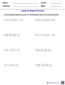 midpoint formula worksheets abitlikethis