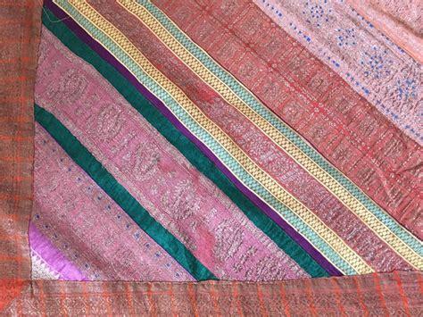 Sari Patchwork Quilt - silk sari textile quilt patchwork india for sale at 1stdibs