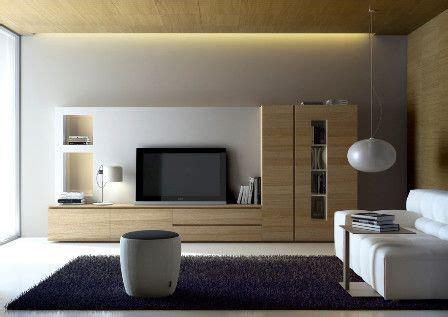 muebles de salon tipo mural en blanco  muebles en madera