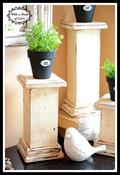 dash of color with a dash of color column pedestals to build wooden