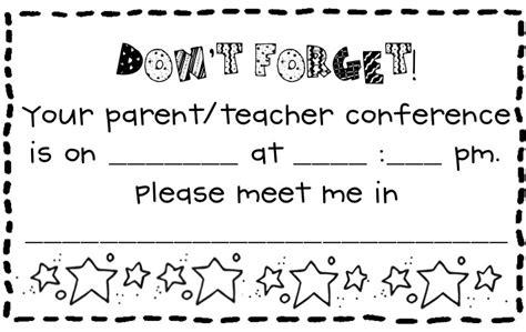 Letter Parent Missed Conference hambymanagementplan communication