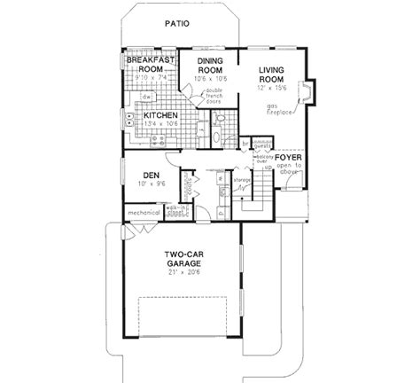 Southwest Style House Plans 1970 Square Foot Home 2 1970s 2 Story House Plans