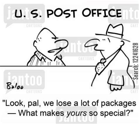 Post Office Lost Package by Mail Clerk Humor From Jantoo