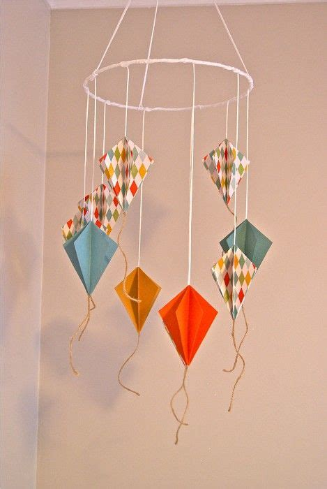 Paper Mobiles To Make - paper kite mobile paper crafts for children