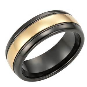 black mens wedding band black gold s wedding rings outstanding gold n black mens tungsten ring wedding band 8mm