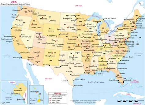 us map with key cities buy us state capitals and major cities map