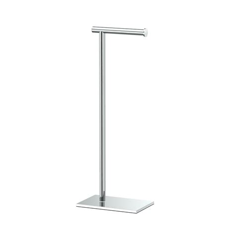 best free standing toilet paper holder gatco latitude ii square free standing toilet paper holder in chrome 1431c the home depot