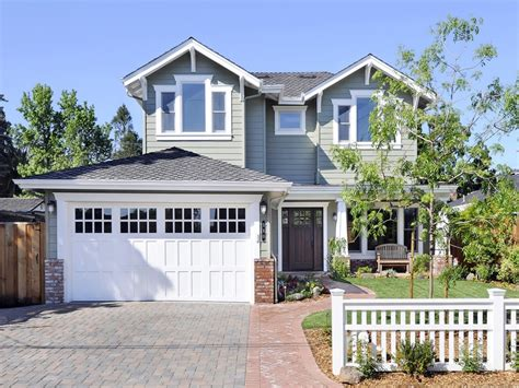 garage door exterior trim craftsman style paint colors exterior garage door trim