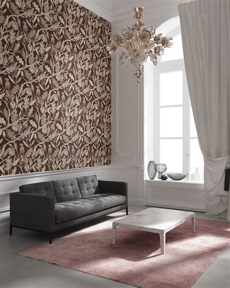 burgundy and black living room refined and unique wallpaper collection digsdigs