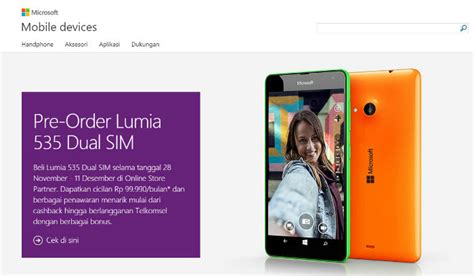 Resmi Microsoft Lumia 535 microsoft lumia 535 resmi hadir di indonesia
