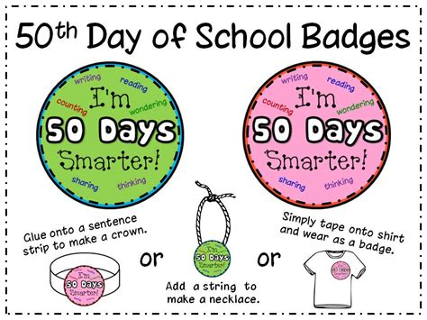 50th Day Of School Printables peace and learning 50th day goodies