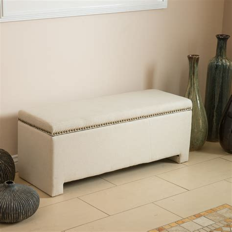 Bedroom Storage Ottoman Bench Contemporary Living Room Bedroom Space Ft Fabric