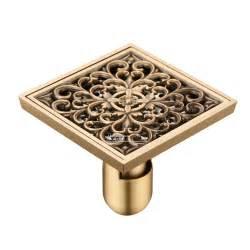 vintage flower carved bathroom shower drain floor trap