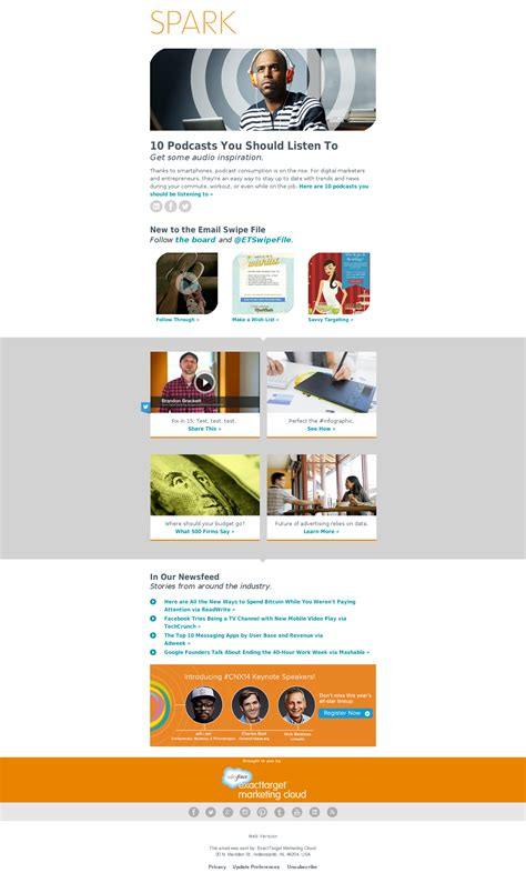 exacttarget email templates 3 excellent email marketing exles small business