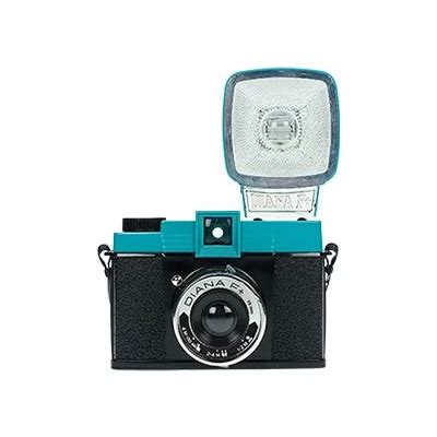 diana f+ camera with flash