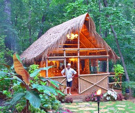 Tiki Hut Building Plans diy plans tiki hut bamboo bungalow with tiki bar by bamboobarn 500 00 front porch deck