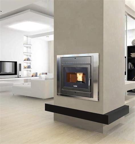 camini rettangolari klover inset wood pellet boiler stoves klover wood pellet