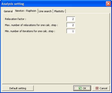 setting newton raphson method | settings and analysis