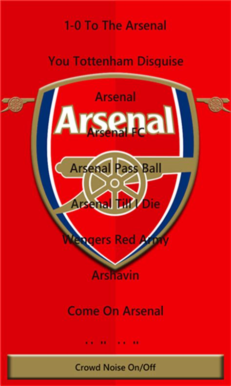 arsenal chants download free arsenal chants by arin e v 1 0 0 0 software