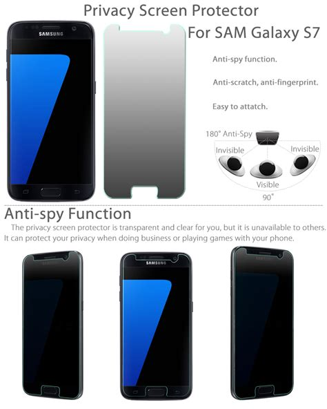 Anti For Samsung S7 premium anti privacy tempered glass screen protector